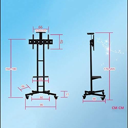 高さ調節可能なテレビ台、32-70 インチ360*回転液晶 LED テレビホームオフィスベッドルーム教室会議室ビデオ通話のための Tv カート