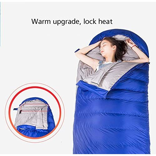 ダウン寝袋封筒軽量ポータブル、防水、快適な圧縮袋4シーズン旅行、キャンプ、ハイキング、野外活動 215 * 80Cm