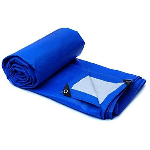 LWHY ブルーウォータープルーフターポリンヘビーデューティタープルーフカバーガーデンレインカバータフトシート160g /m* -