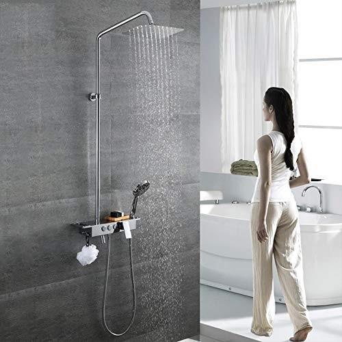 シャワーシステム、レインフォールシャワーセット3機能レインフォールシャワーセットシャワーヘッドと手持ちショー全ての銅の壁に取り付けられた超薄型トップス