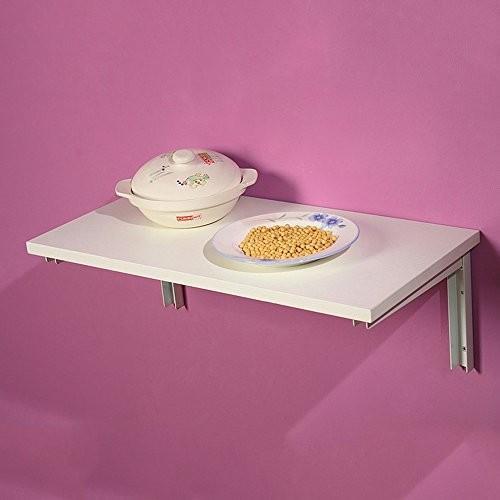 LJHA zhuozi 折りたたみテーブルウォールシェルフ壁の机で2色使用可能サイズオプション (色 : A, サイズ さいず : 80*50cm)