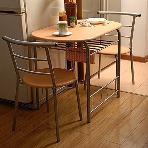 LJHA zhuozi 折りたたみテーブルと椅子カップルダイニングテーブルと椅子1テーブルと2椅子2色オプション (色 : B)