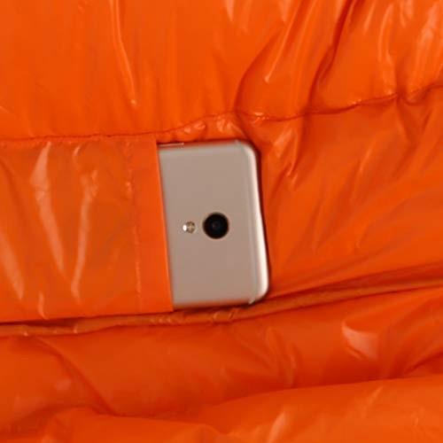 Jhcpca 大人用 キャンプ用 寝袋 圧縮収納袋付き 暖かい (Color : オレンジ, サイズ : 1200g)