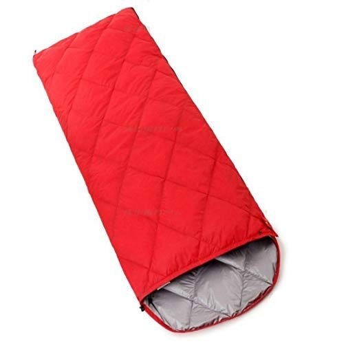 Jhcpca 封筒型 軽量 持ちやすい ポータブル 大人用寝袋 夏、春、秋に対応 (Color : レッド, サイズ : 700g)