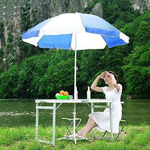 4折りたたみスツールキャンプ座席と折り畳みキャンプテーブルポータブル調節可能な高さアルミ4フィート、屋内と屋外のピクニックキャンプテーブル/ホール