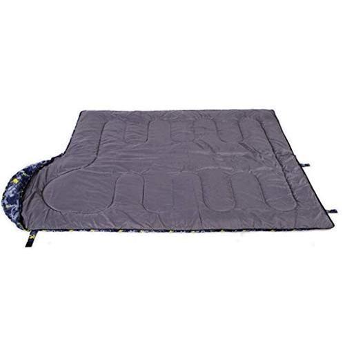 屋外暖かいステッチ寝袋ポータブルダウンコットン寝袋シングルブルー迷彩寝袋