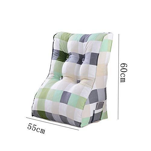ベッドピローネックガードウエストベッドトライアングルクッションソファオフィス腰椎枕取り外し可能と洗える60 * 55センチ