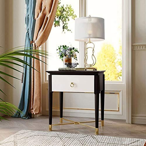 HUO 純木のベッドサイドテーブルの寝室の小さいアパートの貯蔵の小型収納キャビネット-54 * 39 * 58cm