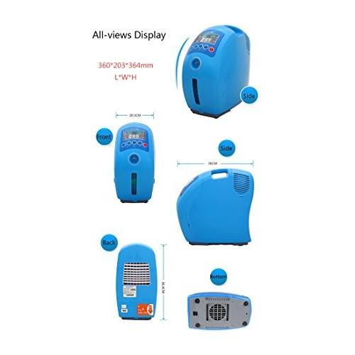Mei Xu 酸素コンセントレータ - ポータブル酸素コンセントレータ空気清浄機酸素マシンジェネレータ出力2-9L /分調整可能 - 青 -