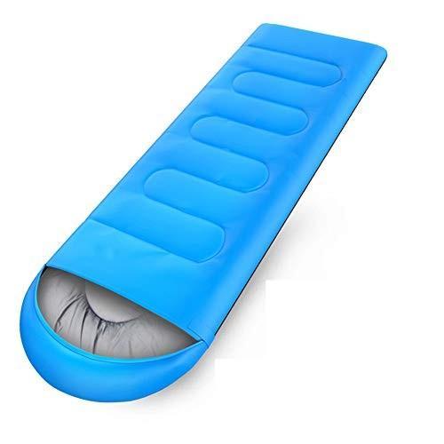寝袋、暖かい軽量大人睡眠袋コンフォート通気性中空綿屋内スリーピングパッド屋外キャンプ睡眠バッグ,lightblue,10℃