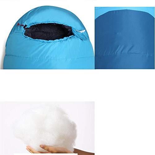 スリーピングバッグ、-10 ℃キャンプの睡眠袋は、通気性の暖かい睡眠袋軽量ポータブル寝袋を厚く,blue,205*80cm