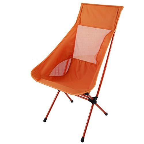 YiyiLai 折りたたみ椅子 アウトドアチェア キャンプ コンパクト椅子 軽量 携帯便利 アルミ合金 組立簡単 収納袋付き オレンジ