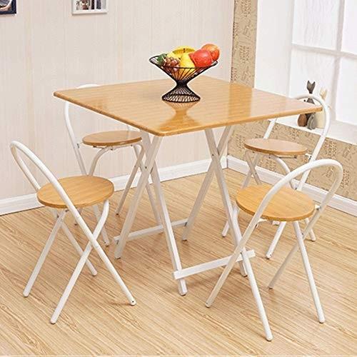 NJLC折りたたみサイドテーブル、折りたたみ家庭用テーブル、シンプルな小さな正方形の折りたたみ式テーブル,C,80×80×74cm
