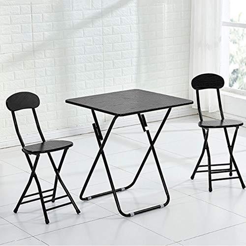 NJLC折りたたみテーブル、ダイニングテーブルホーム小さなアパート食べるテーブル屋外ポータブル折りたたみスクエア折り畳みテーブル,C,80×80×71