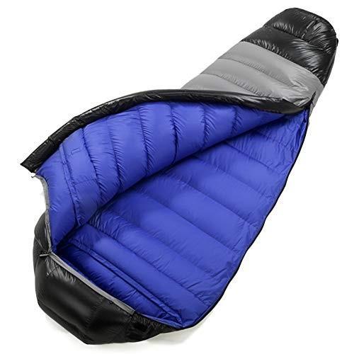 スリーピングバッグ、ポータブル軽量睡眠バッグ暖かい厚い屋内昼食休憩スリーピングパッド防風快適睡眠袋,Blue,400g