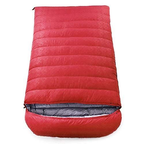 寝袋、軽量封筒睡眠袋2人防水寝袋大人または十代の若者たちのための屋外ハイキング快適な睡眠バッグ,red,800g