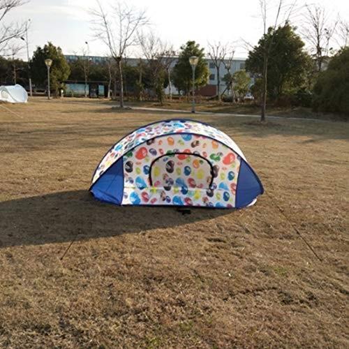 LilyAngel 野生のキャンプ用2人用テントポータブルテント (Color : Multi-colo赤)