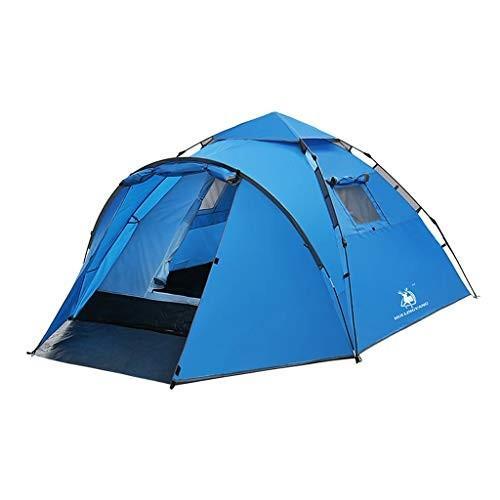 テント3/4人の寝室の技術、1寝室の家族のドームのテント、地面で縫われる100%の防水キャンプテント