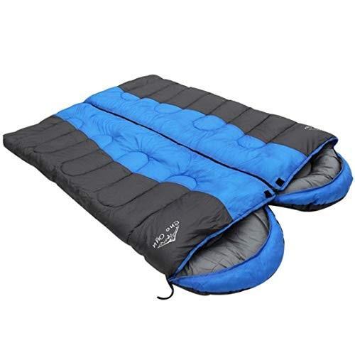 LilyAngel 暖かい屋外キャンプコットンエンベロープとキャンプ用寝袋 (Color : ブルー)