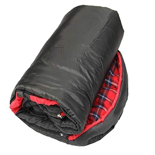 LilyAngel キャンプ封筒寝袋軽量ポータブル防水コンフォートコットンフランネル冬の旅行ハイキングアウトドアアクティビティ (Color :