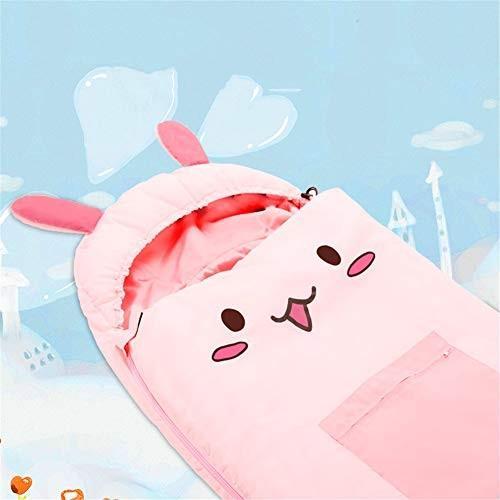 子供寝袋、屋外キャンプ睡眠袋封筒暖かい快適な睡眠袋 屋外屋内昼食休憩スリーピングパッド,pink,160*65cm