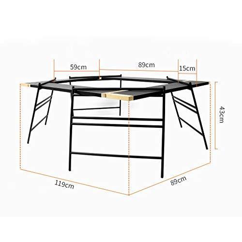 屋外モザイクバーベキューテーブル多機能ポータブルキャンプ折りたたみネットテーブルキャンプテーブル
