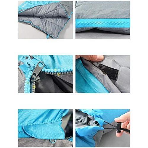 寝袋、暖かい快適な睡眠袋軽量ポータブルシングル、ダブルキャンプの睡眠袋は、屋外で寒いときに最適です,D,250g