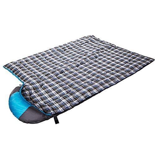 CUBCBIIS キャンプの寝袋屋外の多機能および便利な寝袋 (Color : ブルー)
