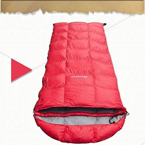 CUBCBIIS -8度大人と子供に適したホワイトダウンのスリーピングバッグ屋外キャンプ - 軽量で耐水性 (Color : レッド)