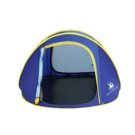 KYAWJY 屋外2人用単層自動テント二重増加キャンプスピードオープン請求 (Color : グリンー)