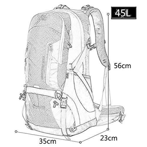 ハイキングバッグ 屋外登山バッグ大容量バックパック男性と女性旅行バックパックキャンプ45 Lキャンプバックパック ハイキングバックパック