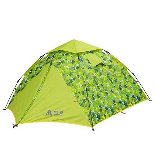 CATRP ブランド アウトドアキャンプテント、3-4ダブルデッカーダブルドア自動テント、もっとスペースキャンプテント、グリーン