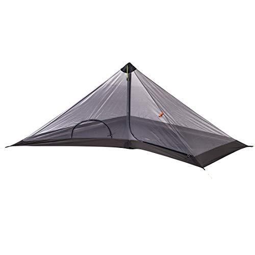 Koloeplf ウルトラライトピラミッドキャンプテント1人バックパッキングオレンジティーピー防水ウィンドファーム(アルペンストックを除く)