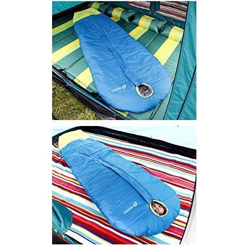 Durable,breathable,comfortableスリーピングバッグ、ミイラ暖かい睡眠バッグ中空綿大人通気性睡眠サック防水屋外屋内ポータブル