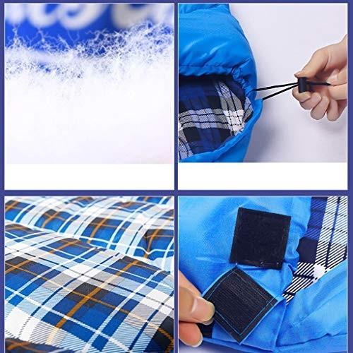 寝袋アウトドアキャンプ屋内ランチブレイクシングル暖かい春と夏と秋(約10°Cに適しています) (色 : A)