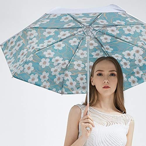 傘の男性と女性の雨と雨のデュアルユースマニュアル三つ折り傘