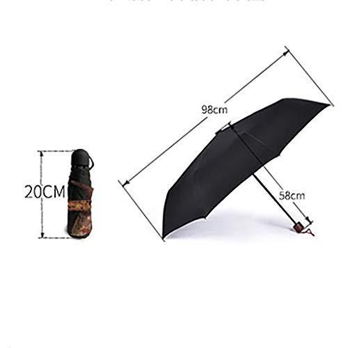 ゴッホの太陽傘黒いプラスチック製のスーパー日焼け止めUV傘 (色 : C)