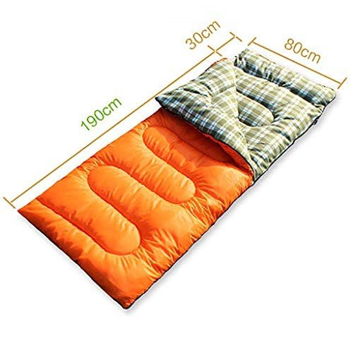 屋外用寝袋 封筒型アウトドアキャンプ寝袋ポータブル超軽量防水旅行でウォーキングコットン寝袋キャップ付き220 * 80 cm (色 : B)