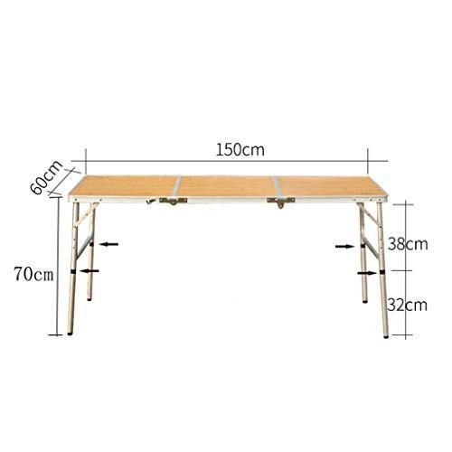 WangYi 折りたたみ式テーブル- 屋外の折り畳み式の携帯用ダイニングテーブル、自動運転の野生のアルミニウム折るテーブルのバーベキューのテーブル