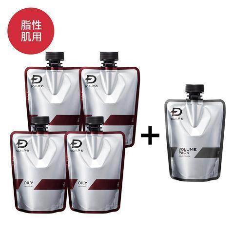 チープ スカルプD オイリー 5本セット 脂性肌用 薬用シャンプー 薬用パックコンディショナー スピード対応 全国送料無料