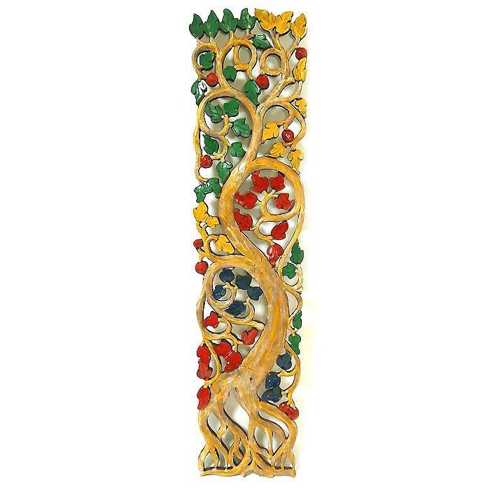 ロンボク 壁掛け 木彫りのレリーフ ベージュ系 アンティーク調 カラー カラー [H.100cm] アジアン バリ タイ 雑貨 アジアン インテリア 送料無料