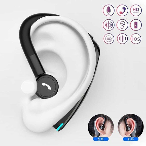 ワイヤレスイヤホン 片耳 片掛け iPhone Pixel Xperia Bluetooth5.0 カナル型 高音質 2台同時 完全ワイヤレス ブルートゥース 右 左 ブラック レッド ブルー anglers-case