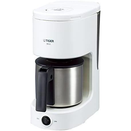 タイガー コーヒーメーカー 6杯用 ステンレス サーバー ホワイト ACC-S060-W Tiger (ホワイト 5-6カップ)|anichance