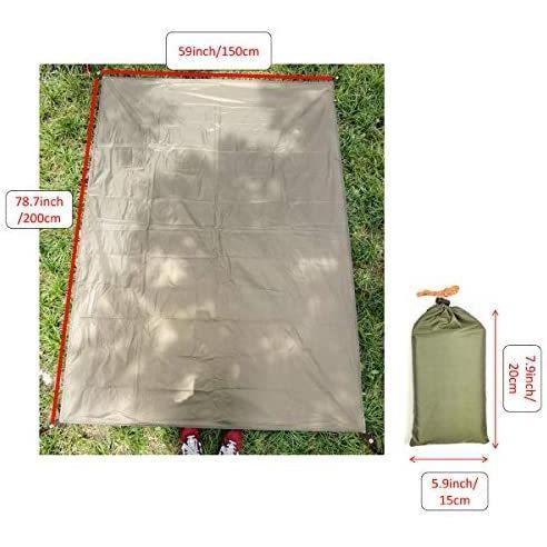Norther30° グランド シート テント キャンプ マット ピクニック ブランケット ピクニック 緑 150×200cm anichance 04