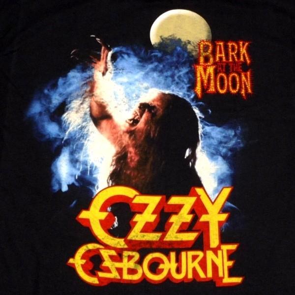 Ozzy Osbourne Men T Shirt Black Bark at The Moon Official