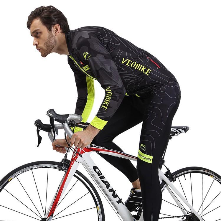 自転車ウエア サイクルウエア ユニセックス サイクルジャージ パンツ 長袖 上下セット  ロードバイク クロスバイク サイクリング 送料無料 男女兼用|anndousyouji|02