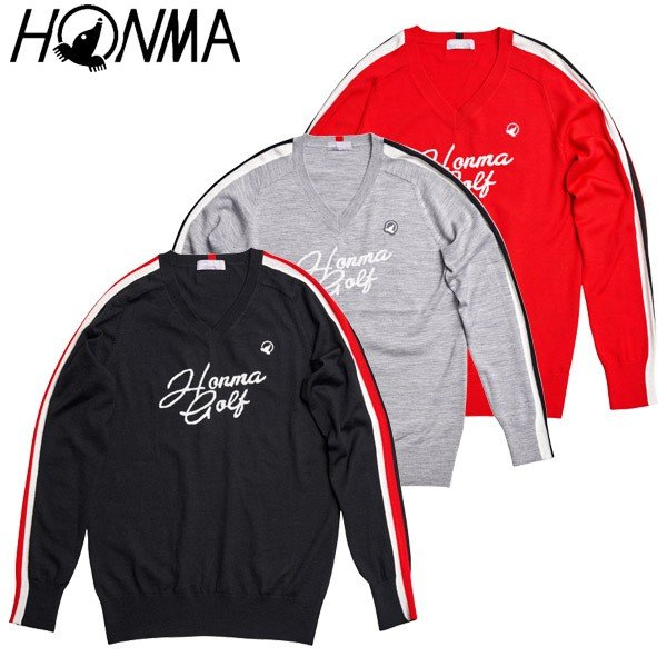 ホンマ ゴルフウェア メンズ 長袖セーター 951-733212 2019秋冬