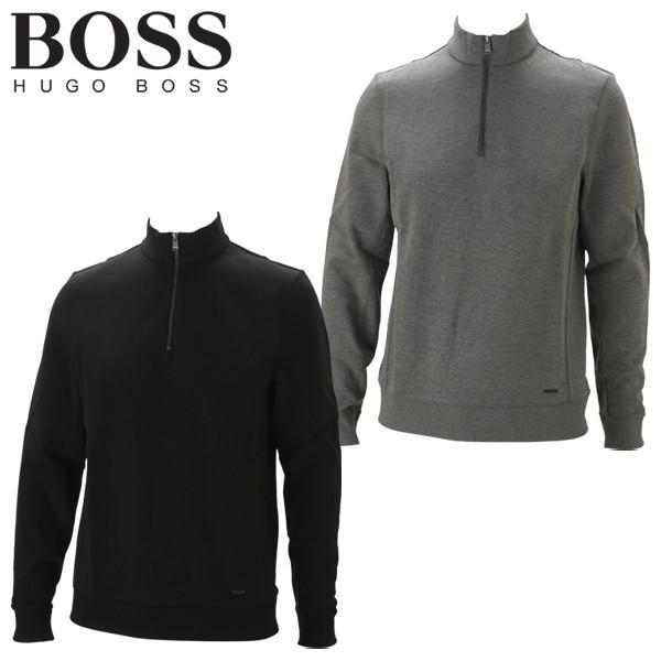 最終処分 ヒューゴボス ゴルフウェア メンズ シーガル 08 ハーフジップ ネックシャツ スウェット 50391700 2019モデル US仕様