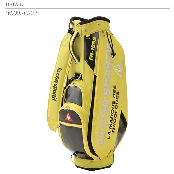 送料無料! ルコック ゴルフ ロゴデザインエナメルキャディバッグ 9.0型 QQBPJJ08 2020春夏 annexsports 05