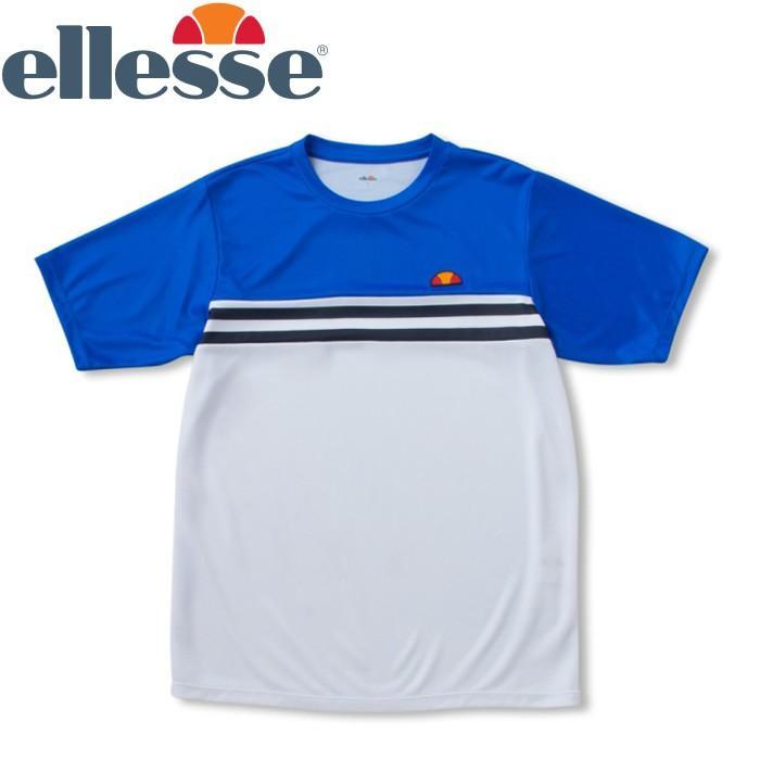エレッセ テニス ショートスリーブ チームクルー Tシャツ メンズ レディース ETS0911-PW ゆうパケット配送